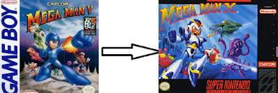 Mega Man V to X roman numerals CAPCOM