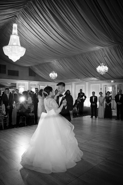 Jin and Christopher's first dance at Bridgeview Yacht Club