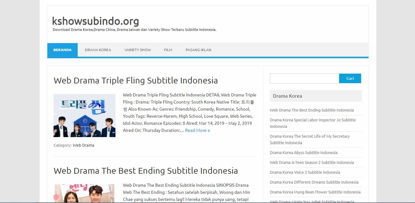 Tempat Download Subtitle Indonesia Variety Show Korea ...