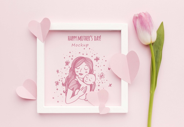 Happy mothers day concept Free Psd