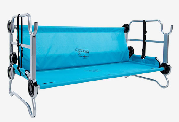 Versatile-use as a bunk, a sitting bench or two single cots