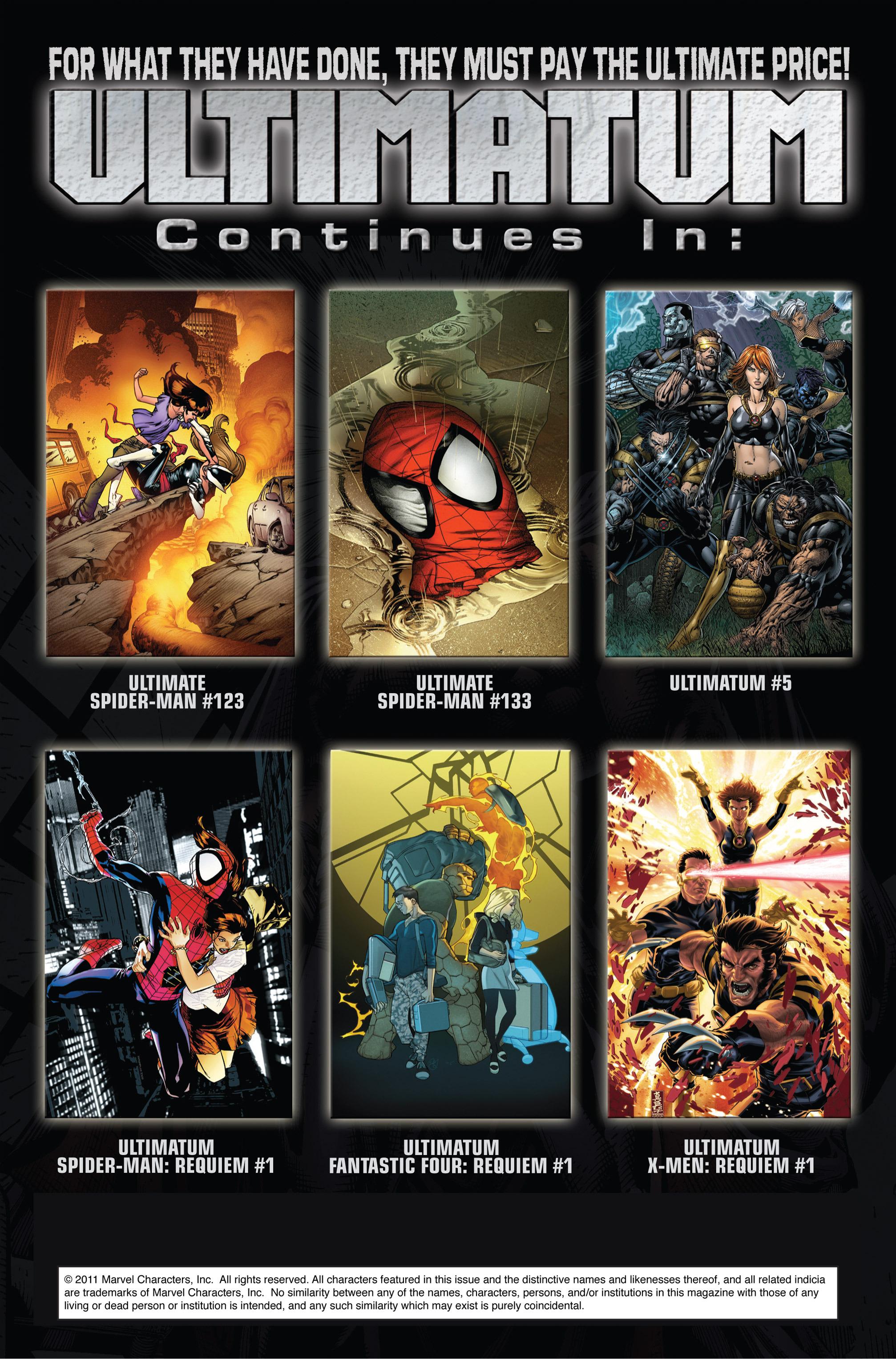 Read online Ultimatum comic -  Issue #4 - 22