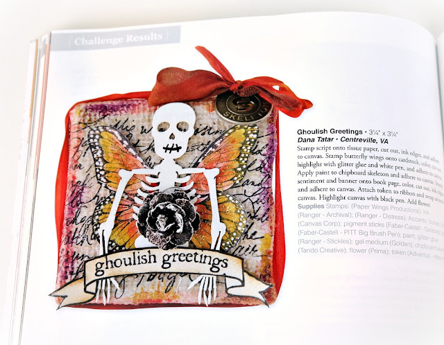Ghoulish Greetings Canvas by Dana Tatar Publication in The Stamper' Stampler