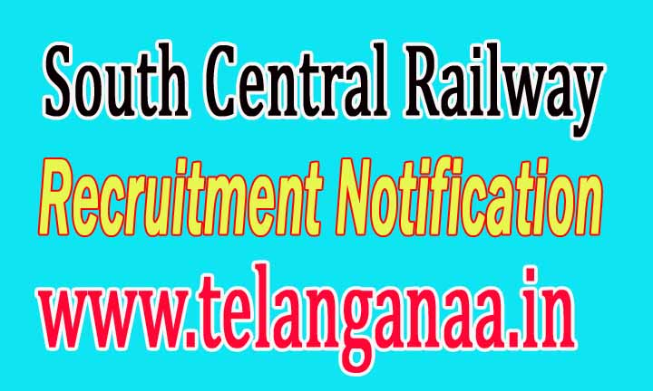 South Central Railway Recruitment Notification 2016