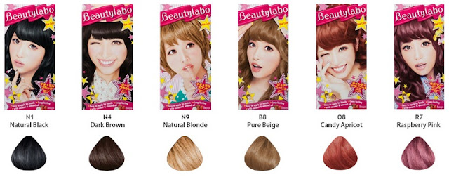 color chart beautylabo hair color