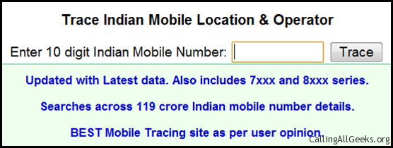 trace mobile number in india by name