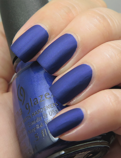 China Glaze Combat Blue-ts From the 2016 Rebel Collection
