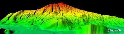 Cerro Viejo en 3D , visto desde el norte