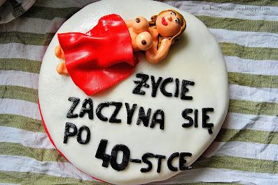 Tort z gołą babą na 40-ste urodziny