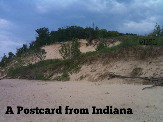 Indiana postcard, travel Indiana, guest post