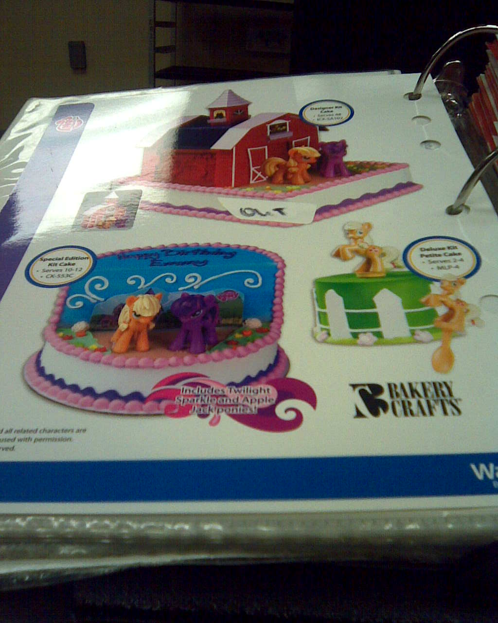 MLP Stuff!: More Pony Cakes At Wal-Mart