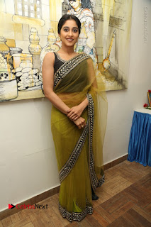Actress Regina Stills in Green Saree at Vivaha Bhojanambu Restaurant Launch  0179.JPG