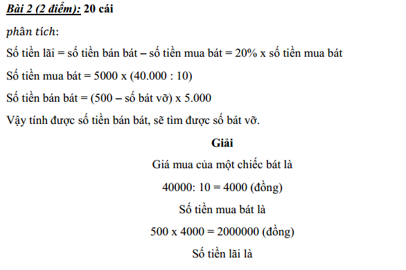[Đáp án] Đề thi vào lớp 6 trường Nguyễn Tất Thành - ĐHSP Hà Nội 2009 - 2010