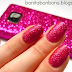 Hangin' on the telephone nails - #5 Glitter bug