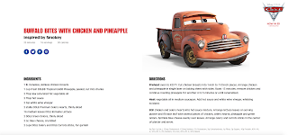 pixar cars 3 dole recipes 2017