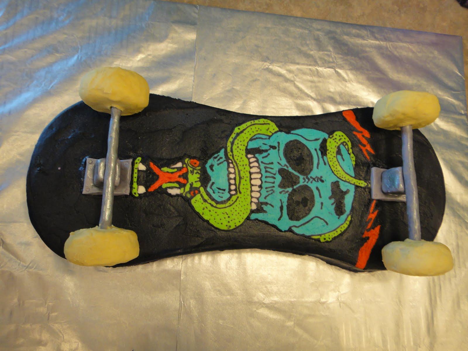 Kims Cakes And Crumbs Skateboard Cake