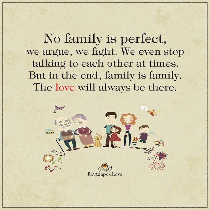 No family is perfect.