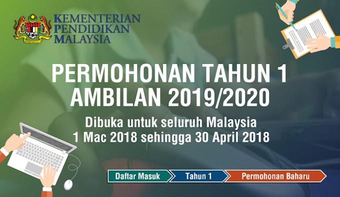 Permohonan Murid Tahun Satu (1) Ambilan Tahun 2019 - 2020