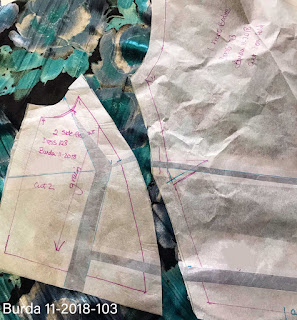 Image of FBA Full Bust Adjustment Pattern Alteration for Burda 11/2018 #103 Dress