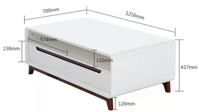 Quy cách cụ thể của bàn gỗ sofa gỗ công nghiệp