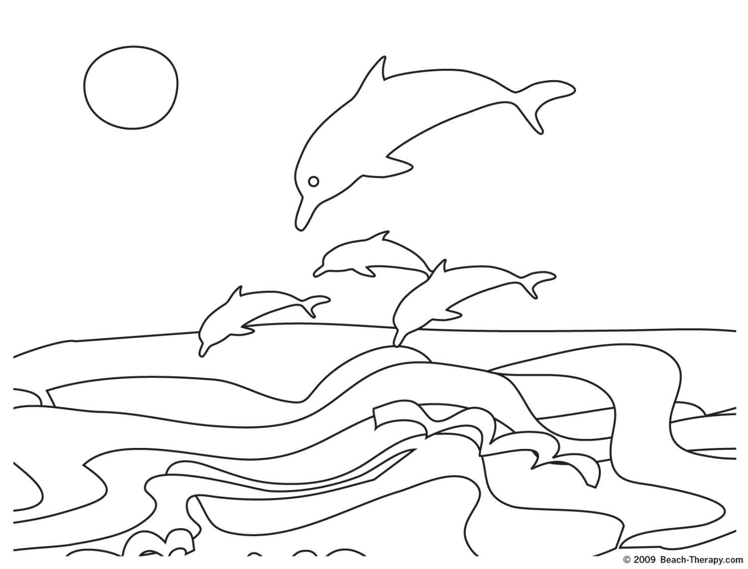 Coloring Pages For Kids: Exotic Beach Coloring Pages