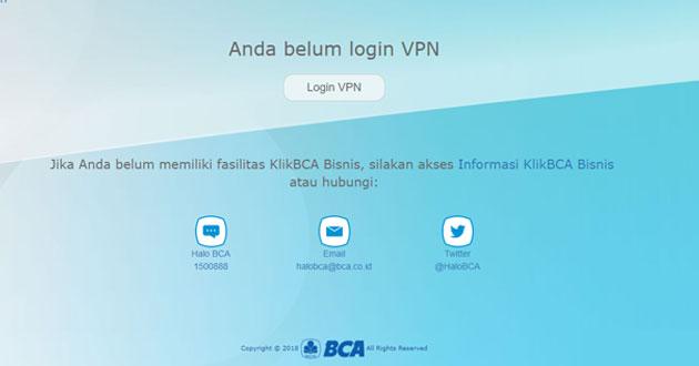 VPN Tarumanagara, Cara Menggunakan VPN Untuk KlikBCA Bisnis