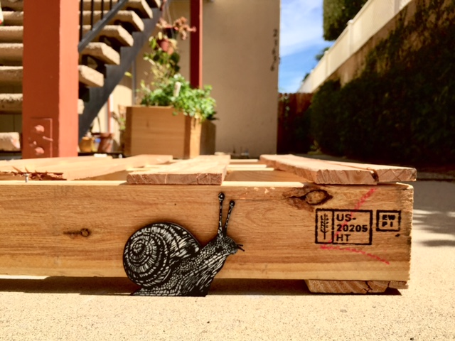 make your city wild snail woodcut stencils
