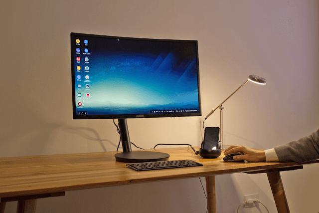 ربط غالاكسي S8 مع شاشة ولوحة مفاتيح وفأرة بواسطة جهاز خاص