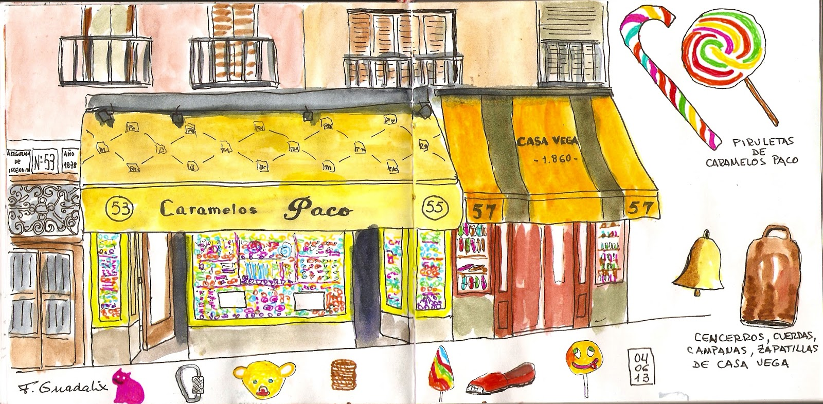 Madrid A Trazos: De Cuchilleros A Latina