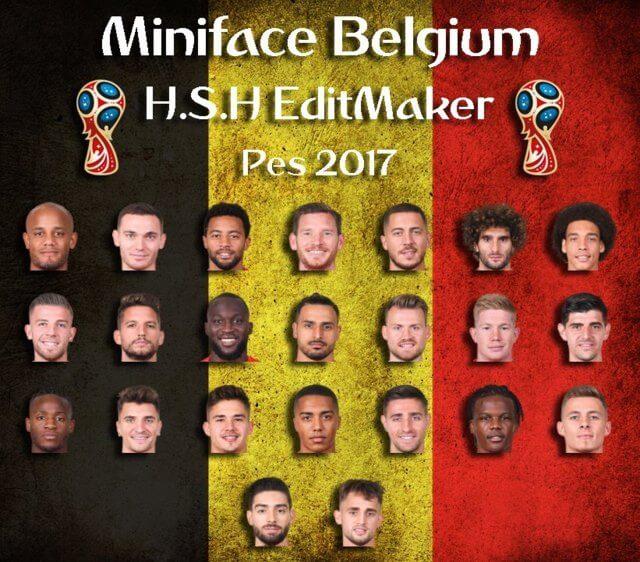 Belgium World Cup 2018 Minifaces PES 2017