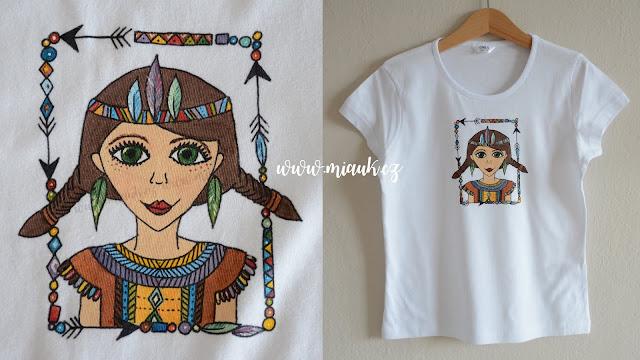 indianka tričko