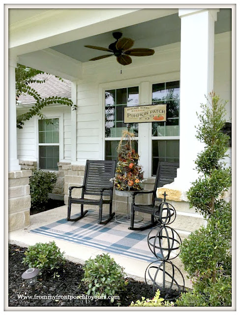 Topiary-Porch-Fall-Rocking Chairs-From My Front Porch To Yours