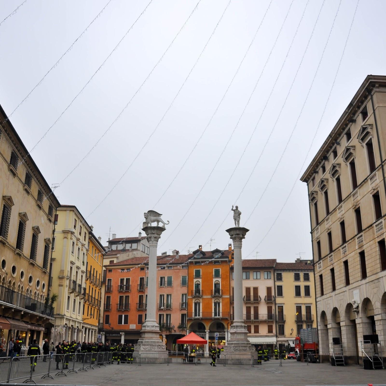 Firefighters, Piazza dei Signori, Saint Barbara celebration, Vicenza, Veneto, Italy