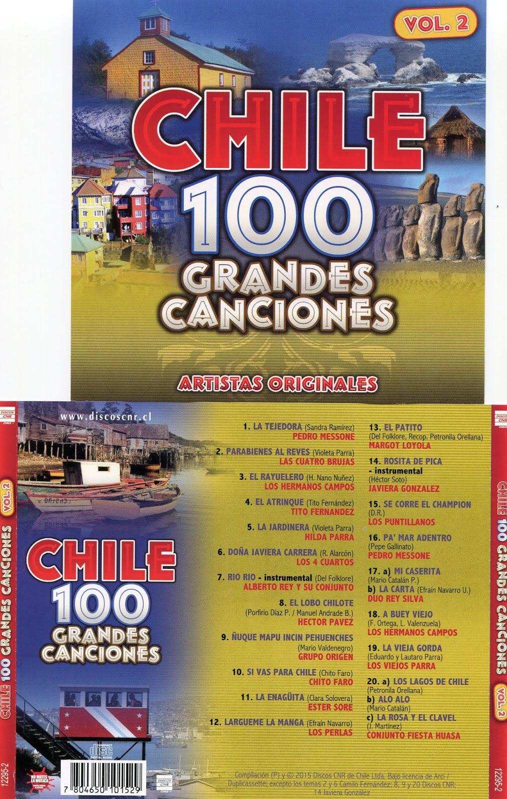 cd 100 grandes canciones de Chile Cd 2 Vol2