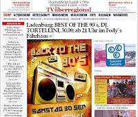adenburg: BEST OF THE 90´s, DJ. TORTELLINI, 30.09; ab 21 Uhr im Restaurant Fody´s Fährhaus in Ladenburg.  Das Premium Restaurant und Eventlocation.
