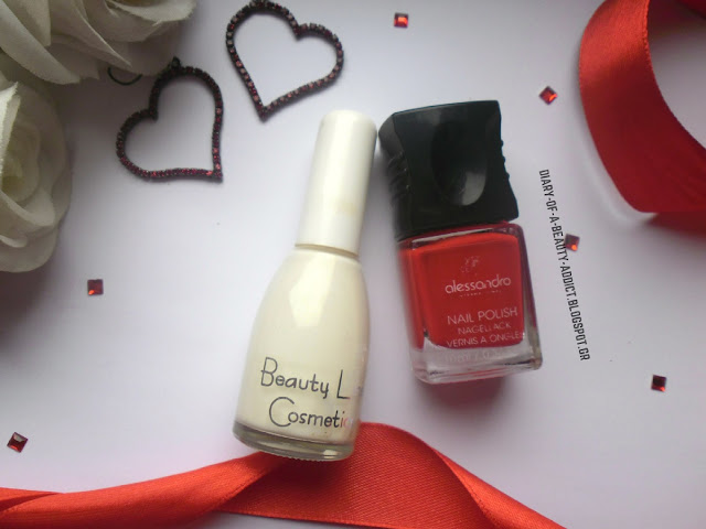 Beauty Line Cosmetics Nail Polish 202, Alessandro International Nail Polish Secret Red