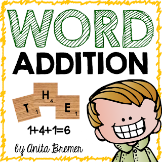 A FUN way to practice spelling words and addition!