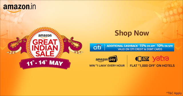 Amazon Great Indian Sale 11th - 14th May 2017