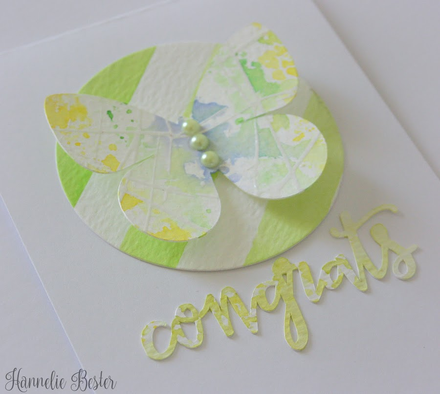 watercolor butterfly card