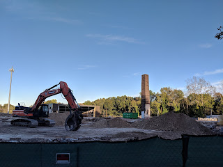 demolition of the buildings of the former Thompson Press (Oct 2018)