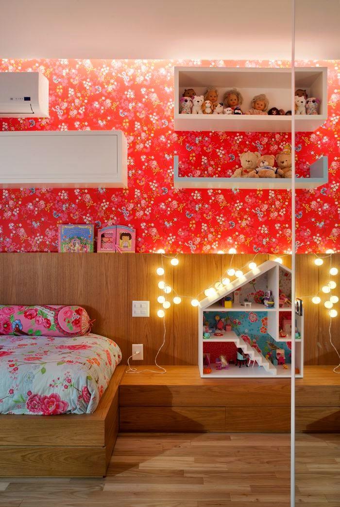 Quarto de menina moderno e encantador jeito de casa - Habitaciones de ninos pintadas ...