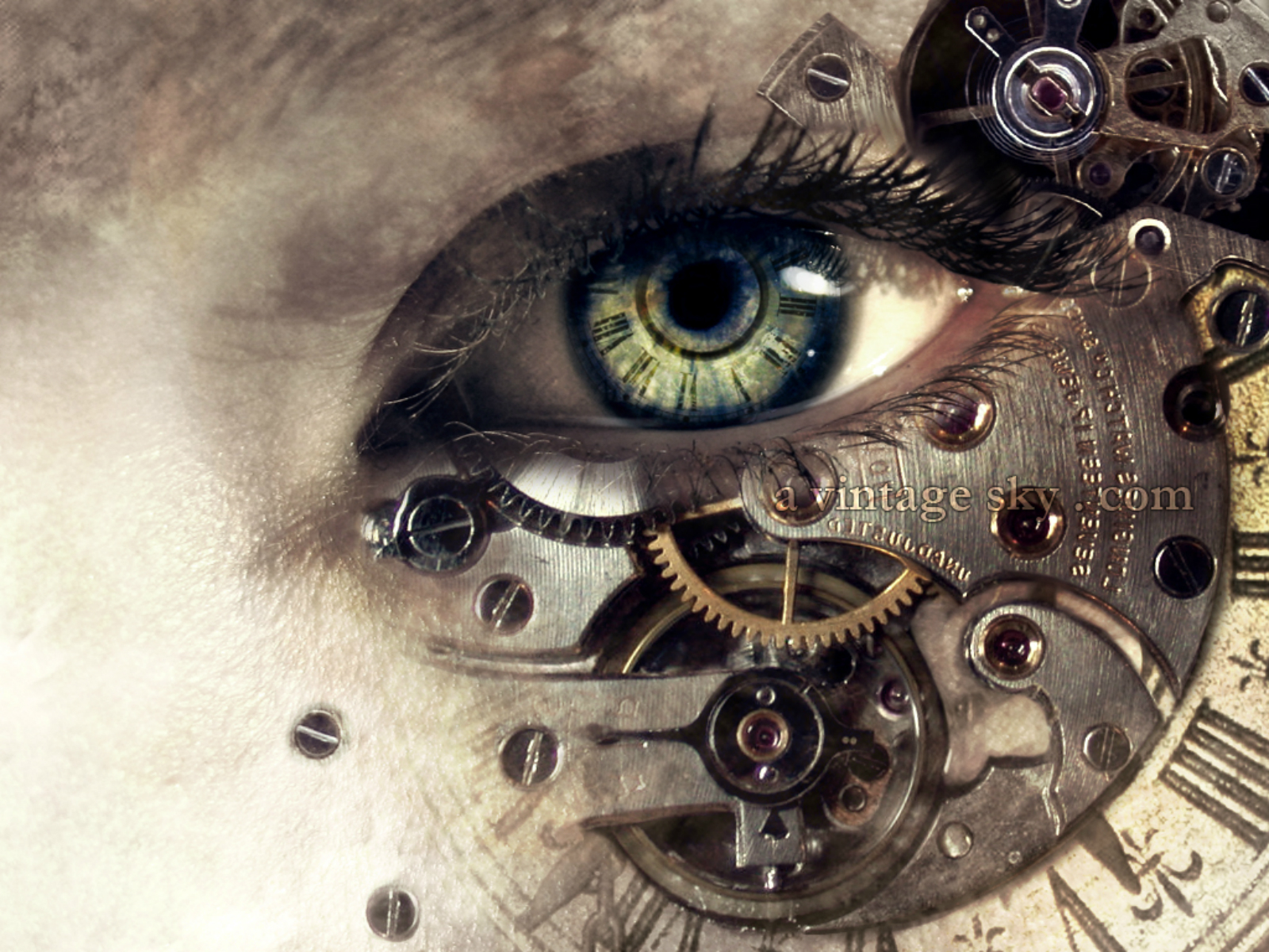 steampunk wallpaper eye - photo #2