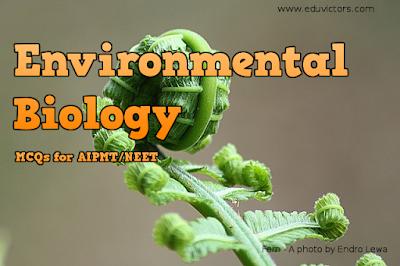 CBSE Class 11/12 - Biology - Environmental Biology  (MCQs for AIPMT/NEET)