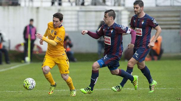 Adrián compareció en zona mixta tras la derrota contra el Barça