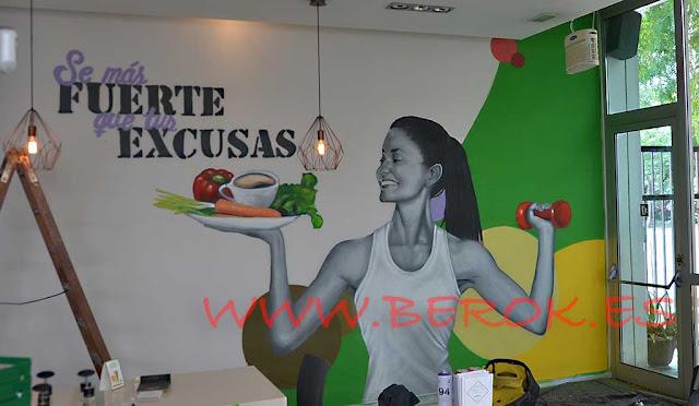 graffiti gimnasio Vilanova i la Geltrú