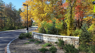 recent autumn glory at the entrance to Franklin High School