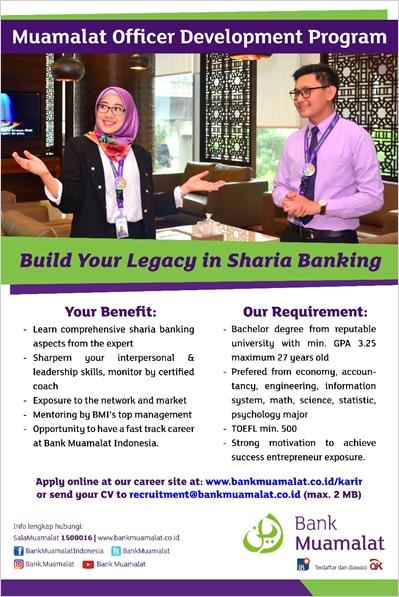 Lowongan Kerja Bank Muamalat 2017