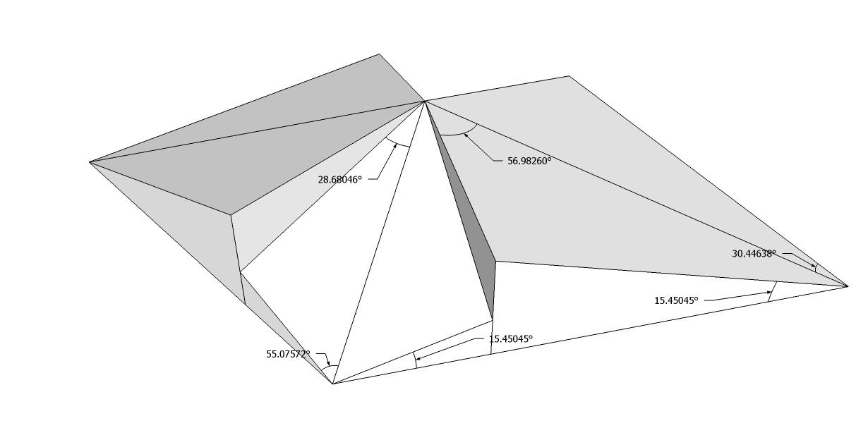 Roof Framing Geometry Golden Rhombus Parallelogram Roof 4