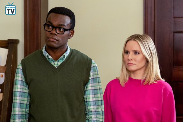 "NUP 183521 0735 595 Spoiler%2BTV%2BTransparent - The Good Place (S03E11) ""Chapter 37: The Book Of Dougs"" Episode Preview"