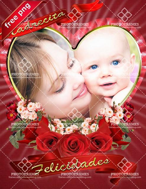 Marco para fotos para el día de las madres